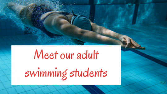 Blog banner Meet our adult swimming students